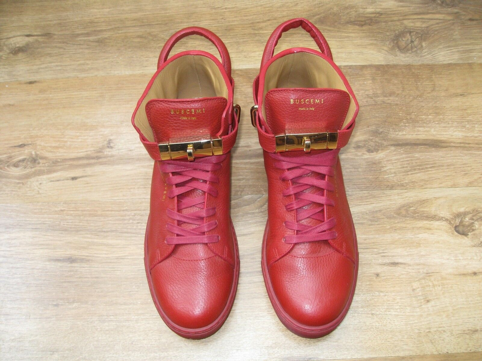 Authentic Buscemi 100mm Red Trainers Sneakers shoes Size US 11