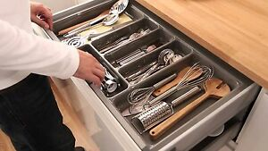Image Is Loading Cutlery Tray Insert Kitchen Drawer Quality Plastic Blum