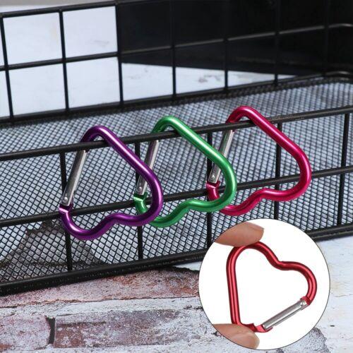Aluminium Karabiner Herzförmige Schnallen Schlüsselbund Clip Schlüsselbund Haken