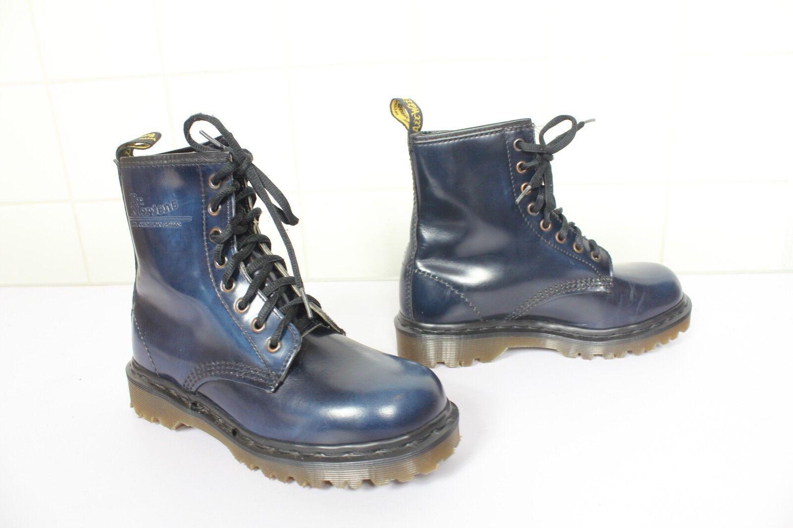 Vintage Dr.Martens Seltenes Model Boots Dunkelblue Eu 36,5-Uk 4 made in England