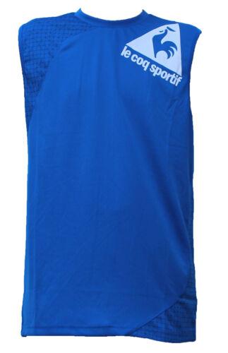 Le Coq Sportif Mens Sleeveless Vest Tank Singlet Training Gym T Shirt Top