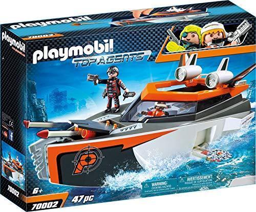 PLAYMOBIL 70002 Top Agents Spy Team Turboship, bunt