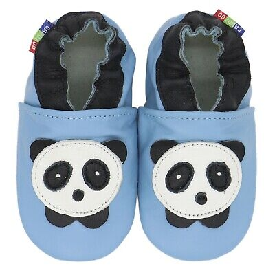 carozoo seagull blue 4-5y new soft sole leather kids shoes//slippers