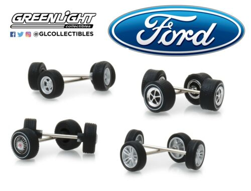 1:64 GreenLight *FORD* WHEEL TIRE ACCESSORY PACK *4 SETS* CUSTOMIZE NIP