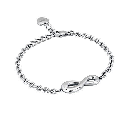 2 jewels bracciale acciaio 316l 231389 serie endless infinito Beatrice Valli