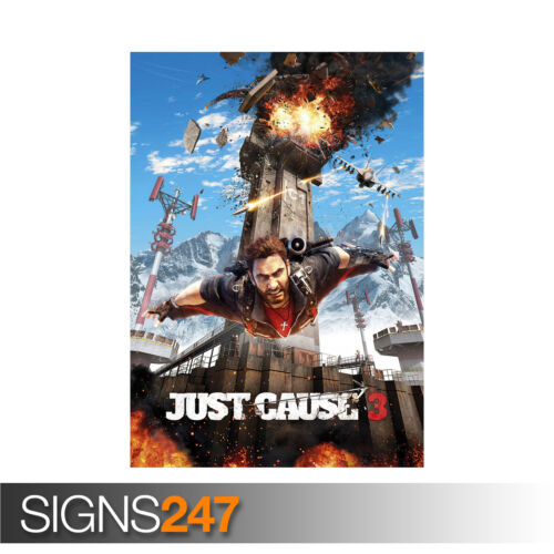 1123 Photo Poster Print Art JUST CAUSE POSTER VIDEO GAME XBOX PS4 All Sizes