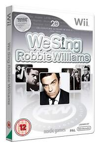 We-Sing-Robbie-Williams-Game-Only-Nintendo-Wii-For-Fans-Singing-Party-New