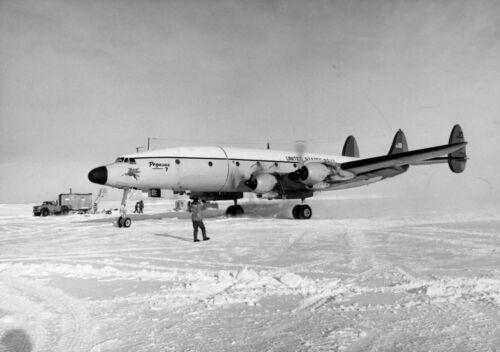 Lockheed C-121 Constellation Pegasus lands Williams Field Antarctica Photo Print