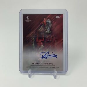 Topps O Jogo Bonito Roberto Firmino On Card Autograph Auto *SMUDGED MY HIM*