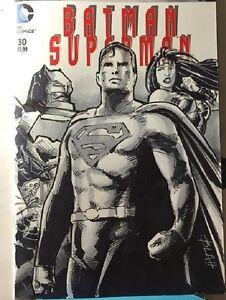 Dc Comics Batman Superman 30 Original Art Sketch Wonder Woman Justice League Nm Ebay Justice league sketch by tryvor on deviantart. ebay