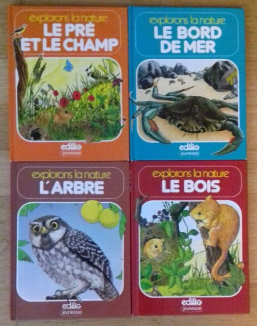 4 volumes EXPLORONS LA NATURE Edilig Jeunesse 1985 / 1986