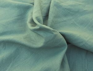 "100% Linen Fabric By the Yard Vintage Green 54""W 9/15"