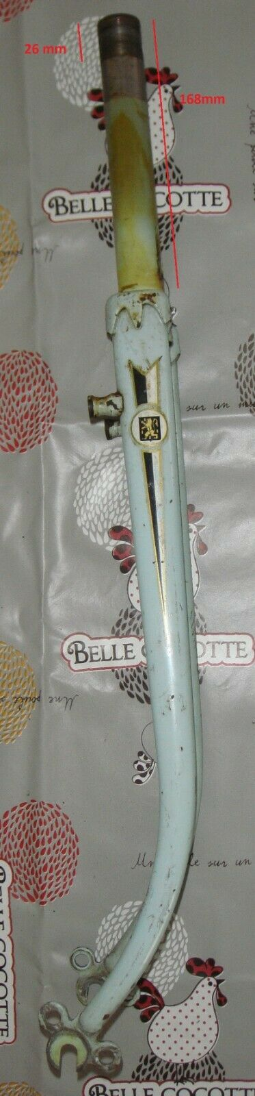 Bike  fork peugeot 1960's 650b for brakes bebolux  low 40% price