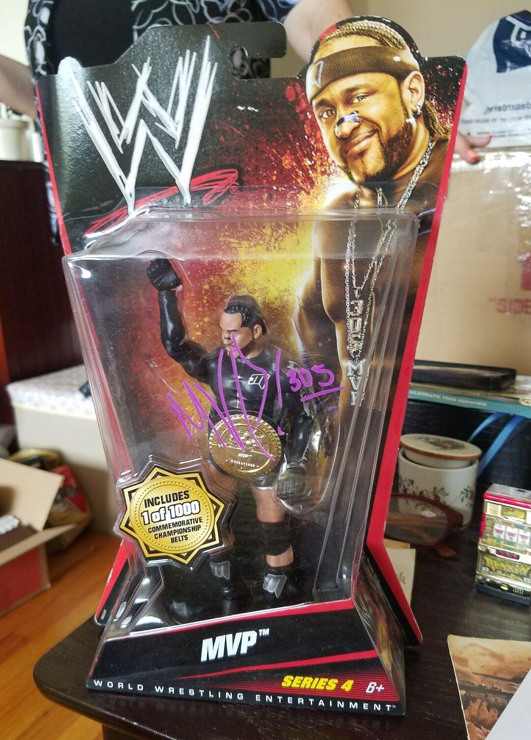 Signed Autographed New WWE Mattel MVP Series 4 Chase Belt 1 1000  48 Wrestling