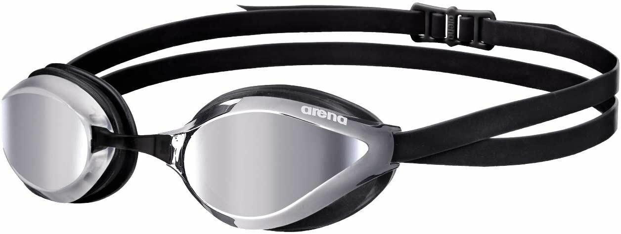 Arena Python Mirror Swim Racing Goggles in Blue Mirror White Free Shipping