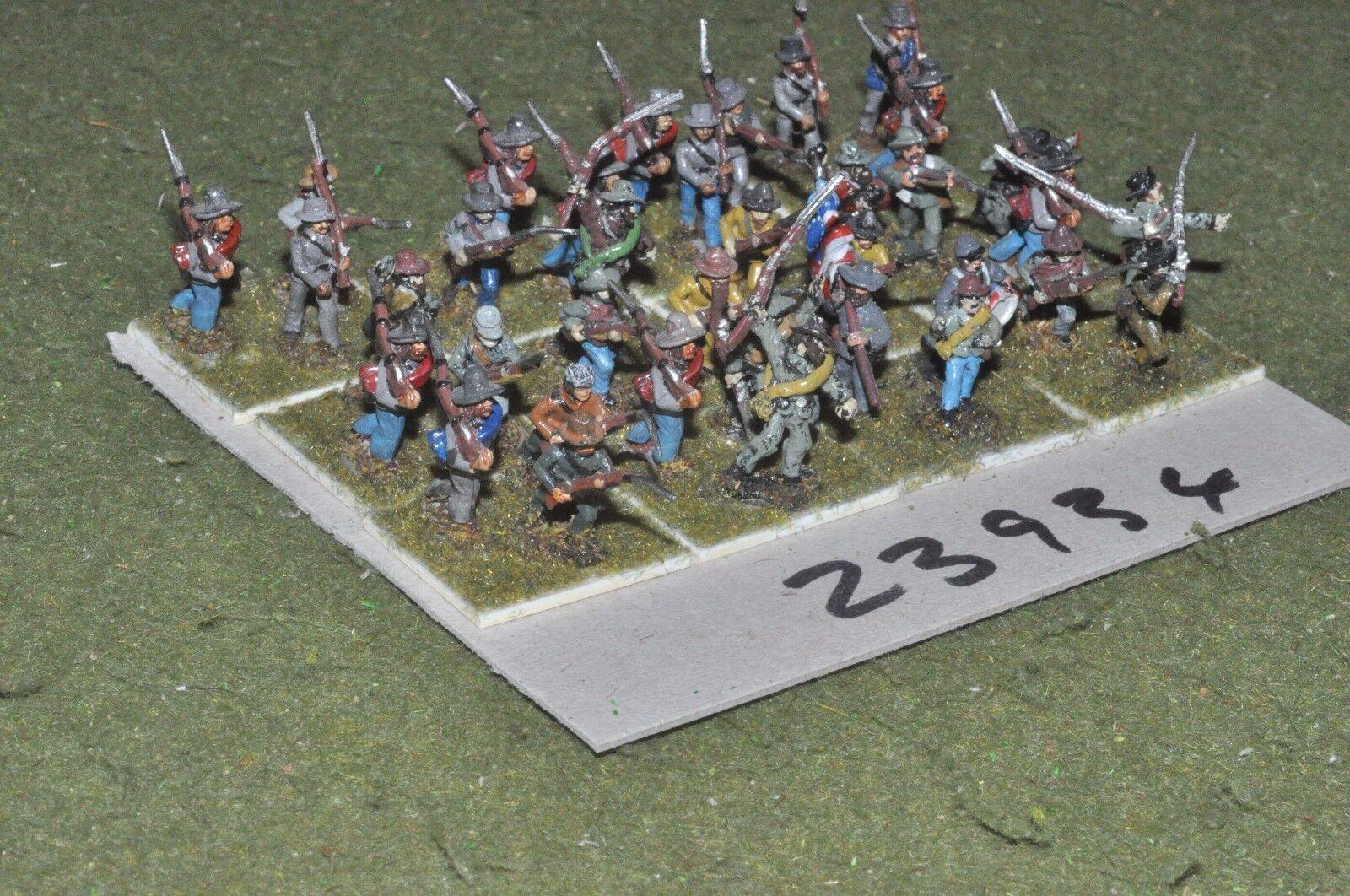 15mm ACW   confederate - regiment 36 figures - inf (23934)