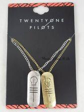21 Twenty One Pilots Band Logo Pendants Necklace Set 2 Pack Best Friends