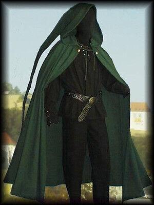Medieval Cloak Long Pointed Hood Rennaisance SCA Larp Wicca Beltane