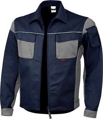 Berufsbekleidung PROFI Latzhose Bundhose Arbeitsjacke Arbeitshose / blau - grau