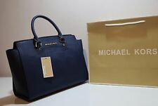 d498aa64598f5 Michael Kors Selma Large Saffiano Leather Satchel Crossbody Handbag ...