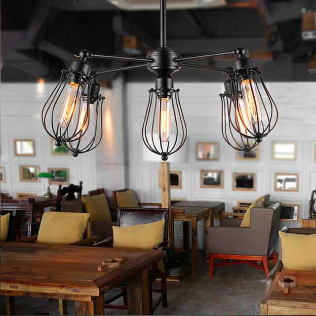 Retro Chandelier Vintage Ceiling Lamp Office Library Fixture Loft - Kitchen pendant lighting ebay