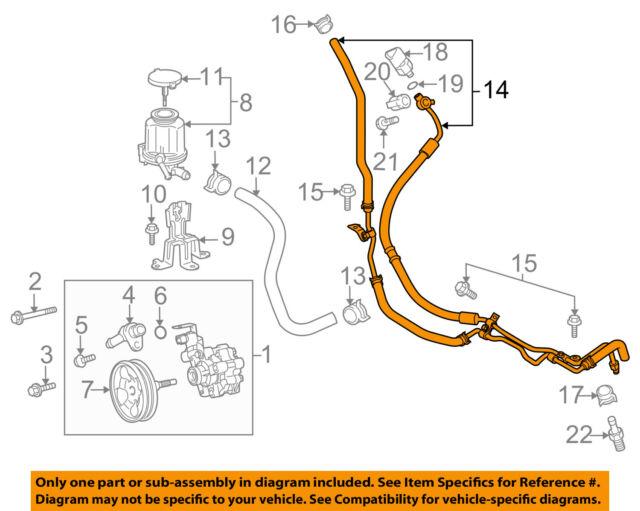 toyota oem 10 14 fj cruiser power steering pressure hose 4441035770 rh ebay com Toyota FJ TRD Wheels for 2014 Toyota FJ TRD Wheels for 2014
