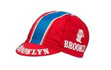 Team Brooklyn red cycling cap, Italian made Retro fixie