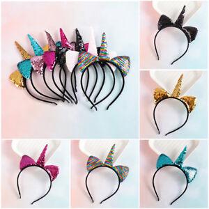 reversible-pailletten-stirnbaender-cartoon-stirnband-suess-einhorn-haarband
