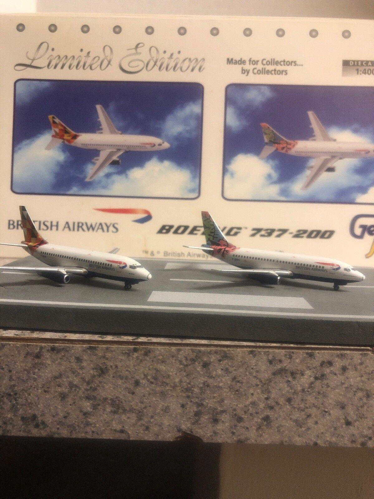 Gj Limited Edition 400 escala Diecast modelos conjunto de BA B737-2 aviones comerciales
