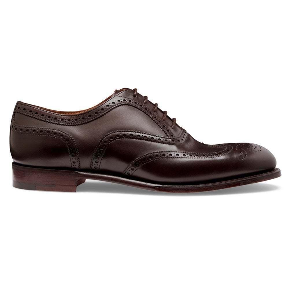 Para hombres Cuero Marrón Oscuro Hecho a Mano Oxford Brogue Zapato, Clásico De Hombre Zapatos de extremo de ala