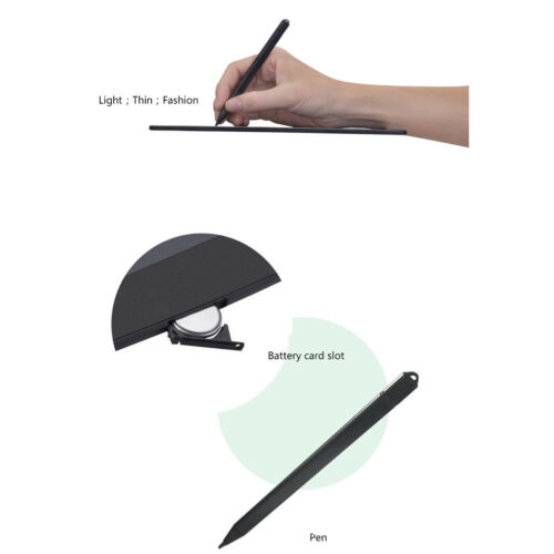 """8.5/"""" Ultra-thin LCD Writing Tablet Pen Writing Drawing Memo Message Boogie Board"""