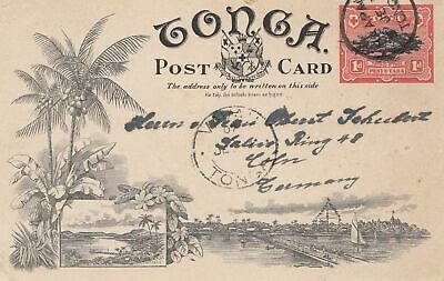Post Card To Köln Sporting Tonga Briefmarken