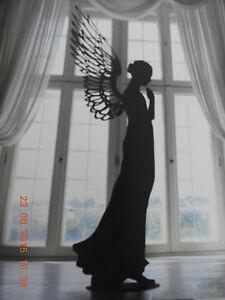 Resin Engel Paar 11-50057 Dekoration Figur Tischdeko Skulptur Flügel Sunshine