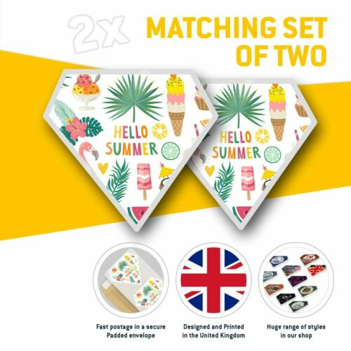 Hello Summer Holiday Cool  #2774 2 x Diamond Stickers 7.5 cm