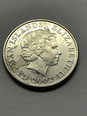 Cayman Islands 1992-25 Cents Nickel Clad Steel Coin Schooner Elizabeth II