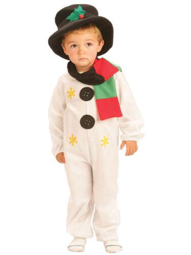 PUPAZZO di NEVE Kids Costume Festa Natale Costume ragazzi ragazze bambino 1-8 Anni Nuovo