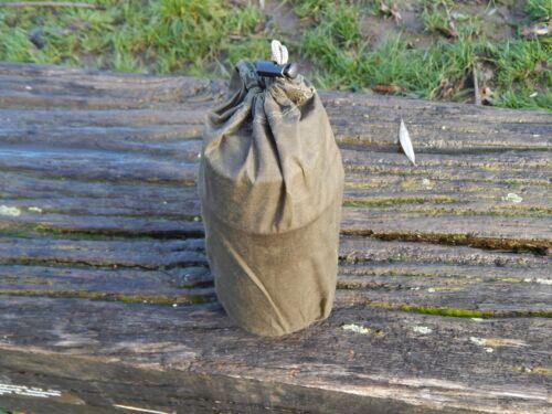 Nalgene bottle bag 1L waxed canvas A.S Woodworks Bushcraft wide mouth bottle