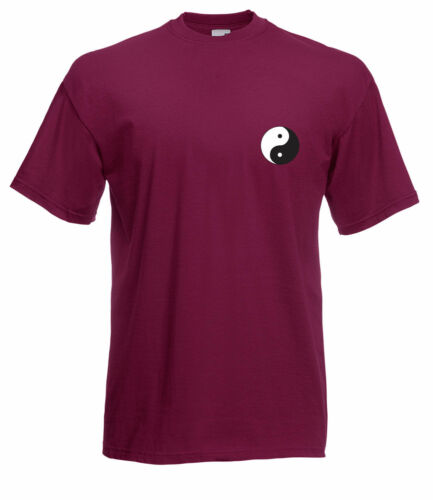 YING AND YANG GRAPHIC HIGH QUALITY 100/% COTTON SHORT SLEEVE FULL COLOUR T SHIRT