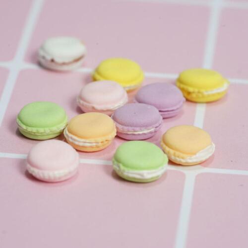 15 muñeca casa miniatura francés macarrones Postre Merienda panadería Tortas De Alimentos