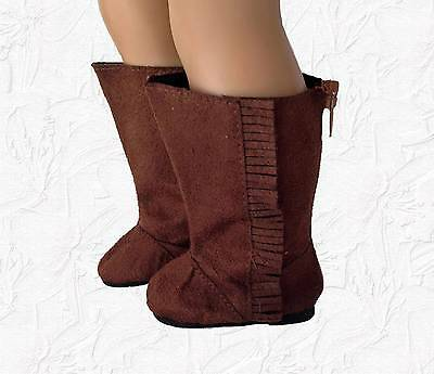 Doll Clothes Faux Suede Ewe Boots fit 18 Inch American Girl Dolls