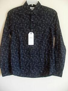 Next Men/'s Grey Patterned Long Sleeved Smart Shirt BNWT Size XS