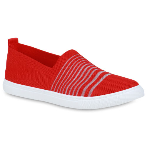 Damen Slippers Slip On Schuhe Bequeme Freizeitschuhe Übergrößen 833743 Trendy