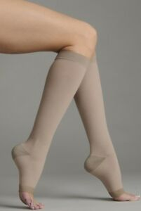 Compression Garments 20-30 Mmhg Reg Juzo 2061 Silver Soft Open Toe Knee Highs
