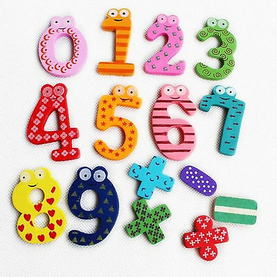 Fun Wooden Magnetic Fridge Magnet Numbers &Alphabet Letters Educational Kids Toy