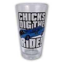 Batman Chicks Dig The Ride Dc Comics Pint Glass Glassware on sale