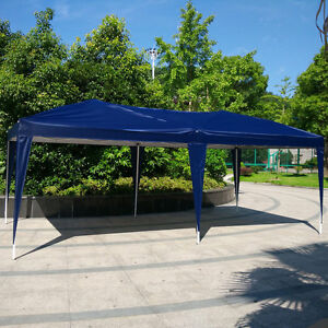 Image is loading 10-039-x-20-039-Easy-Pop-Up- & 10u0027x 20u0027 Easy Pop Up Gazebo Canopy Cover waterproof Wedding Party ...