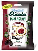 12 Pack Ricola Dual Action Cough Suppressant Cherry 19 Drops Ea on sale
