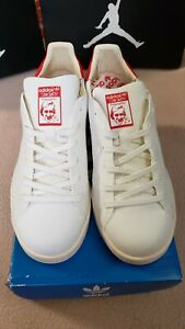 sports shoes 64041 b5f03 Details about Adidas Originals Stan Smith Primeknit PK White Red Sz 7.5  #1127