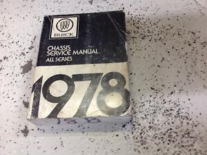 Werkstatthandbuch Buick Chassis Service Manual All Series 1978 Anleitungen & Handbücher