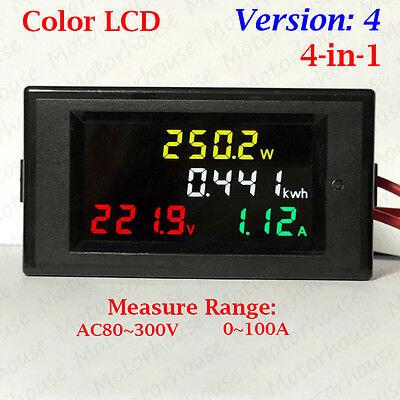Digital LCD AC Voltmeter LED Voltmeter Panel Volt Watt Combo Meter AC 110V 220V